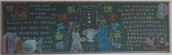 第三期优秀黑板报 感恩父母 展示 高二年级图片